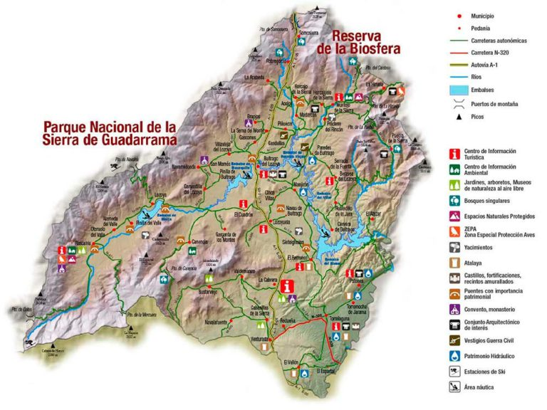 Sierra Norte Madrid - Mapa